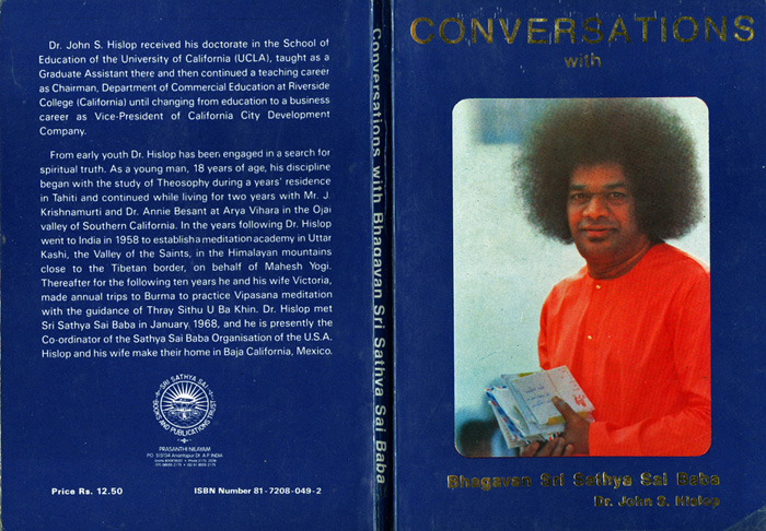 Comnversations with Sathya Sai baba by Hislop