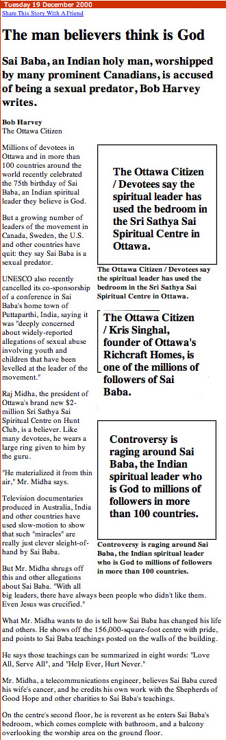 The Ottawa Citizen on Sai Baba
