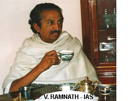 Mr. V. Ramnath of the IAS at home.