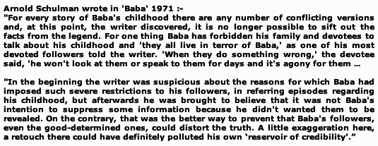 Arnold Schulman excerpt from 'Baba'