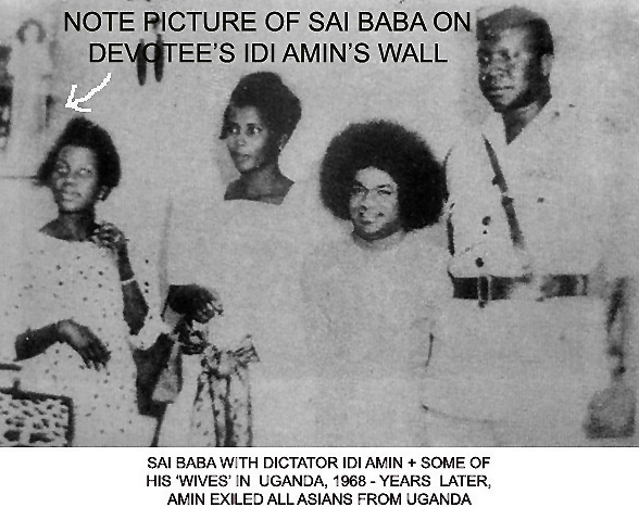 Idi Amin and Sathya Sai Baba in Kampala, Uganda, 1968