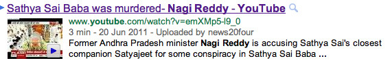 Ex-minister Nagi Reddy on Sai baba's death
