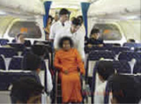 Sai Baba jumbo jet hired for holiday trip