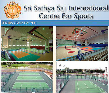 Sathya Sai Sportys Stadium, Puttaparthi - posted by Robert Priddy